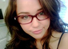 Miley with glasses