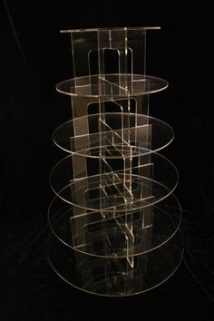 6 tiered round cupcake stand