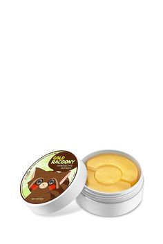 The Gold Racoony Hydro Gel Eye & Spot Patch from Secret Key™ helps to brighten, soothe and tighten dark and tired eyes . Dissolve previously used patches in hot water and use an essence to hydrate the entire face. Store in refrigerator.