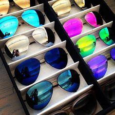 I want them all.......Victoria Beckham mirrored aviators