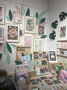 Didn't make it to the London Illustration Fair? Don't worry, we took a trip for you - and we've come back fully armed with some top trends for Craft Stall Display, Craft Fair Displays, Display Ideas, Shop Displays, Booth Displays, Retail Displays, Window Displays, London Illustration, Folded Book Art