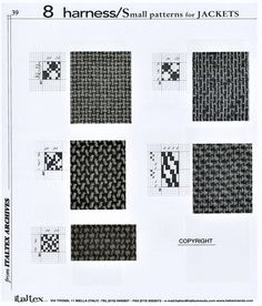 Textile Technical Book Harness Small Patterns for Jackets