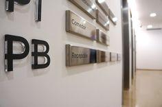 Directorio General realizado en metacrilato para las Oficinas centrales MSC Valencia Interior Exterior, Valencia, Offices, Buildings, Interiors, Pictogram