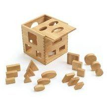 Wood Cube Shape Sorter - 20 Pieces by N/A. $12.99. Smooth and chunky shapes are easy to hold and sort. Cube has 3 different sizes of holes and pieces to keep baby entertained for hours.