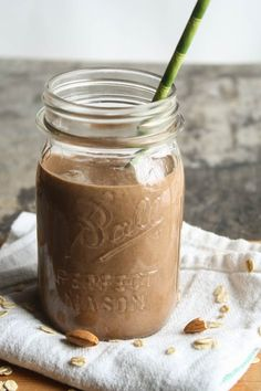 Oats  Chocolate  Milk Shake - A healthy and a tasty way to start your day ideal for breakfast ,please give this shake a try this is very simple and quick and even kids gonna like it  :)