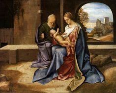 The Holy Family (Madonna Benson), Giorgione, Giorgio Barbarelli da Castelfranco, 1500