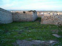 Trasmuralla del castillo de los Moros .Cartagena Spain.