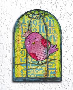 Create this project with DecoArt Media® — Make a bird cage wood canvas with DecoArt Media Fluid Acrylics