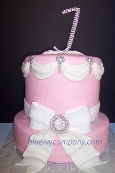 Bling Baby Shower Cake
