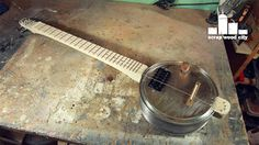scrap wood city: DIY electric canjo guitar