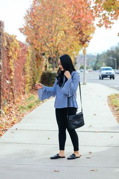 Casual Fall Outfit: Top- Vibe Apparel Co.; Pants: Old Navy; Shoes: Merona; Bag: Nordstrom BP; Watch: Daniel Wellington #ootd
