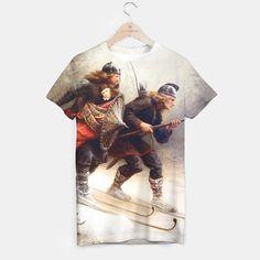 Skiing tshirt by JBJart 29.95€ #tshirt #custom clothes #skiing #ski #vikings