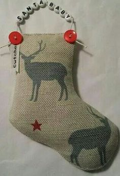 Cheeky little lavender Christmas Stocking