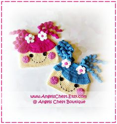 how stinking cute is this?!?!    Lala Loopsy Lalaloopsy Doll Inspire Crochet Hat Pattern Size Newborn to Preteen Boutique Design - No. 38 by AngelsChest. $6.99, via Etsy.