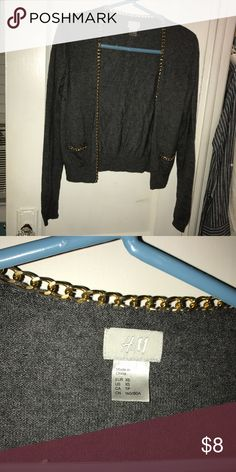 H&M gray chain sweater used size xsmall H&M gray chain sweater used size xsmall H&M Sweaters