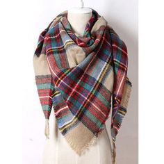 Brand Cashmere Design Triangle Scarf Plaid Fashion Warm in Winter Shawl For Women pashmina shawl M8062