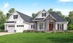 3 Bed Contemporary Craftsman with Bonus Over Garage - 51755HZ | 1st Floor Master Suite, Bonus Room, CAD Available, Corner Lot, Country, Craftsman, PDF, Southern, Traditional | Architectural Designs
