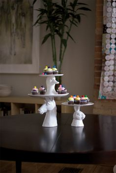 Takes the Cake Plates in assorted styles design by imm Living Duck $45; Rabbit $60; Horses $90.