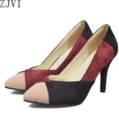 d3f83899f420 YOUGOLUN woman fashion mixed colors pointed toe Thin high heels pumps women  spring autumn shoes nubuck women s Pumps work shoes-in Women s Pumps from  Shoes ...