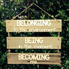 Being belonging becoming sign