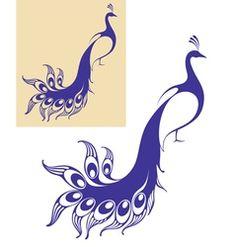 Peacock vector vector