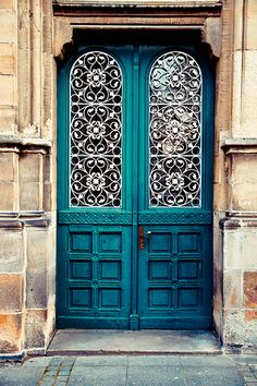 It's like a cross between the tardis and one of the vault doors from gringotts - would love my front door to look like this.