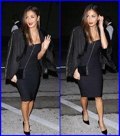 #NicoleScherzinger Steps Out In Sexy Cleavage-Bari...