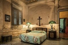 A guest room in the Casa Alonso - a private villa built in 1929 in the El Vedado neighbour...