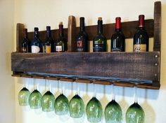 Wine Rack Reclaimed Rustic Wood Handmade by GreatLakesReclaimed, $59.00