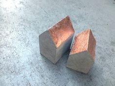 Ensemble de cuivre _2er hut béton décoratif par mhoch3design