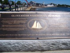 """Wall of Fisherman who never returned to Gloucester. Names of guys from """"The Perect Storm"""" included."""