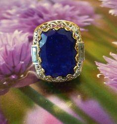 Lapis Lazuli Sky Blue Topaz 14K YG & Platinum Over Sterling Silver 16.450TCW (6) #GemTreasures #Cocktail #BirthdayChristeningHolidayAnniversary
