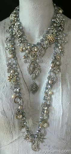 OMG Necklace. OH. M. G.  Beyond Decandance. Downpayment for a Custom Necklace by Kay Adams.  Art, Wedding or Runway Jewlery.. $250.00, via Etsy.