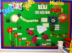 My new 'Maths is Fun!' Numeracy display...