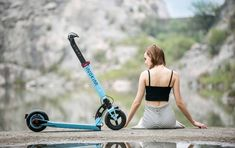 Inokim Light in Sky Blue. The lightest Inokim electric scooter.
