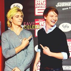Ross Lynch and Calum Worthy