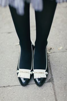 Hey, I found this really awesome Etsy listing at https://www.etsy.com/listing/464980266/vintage-black-white-heels-1960s-leather