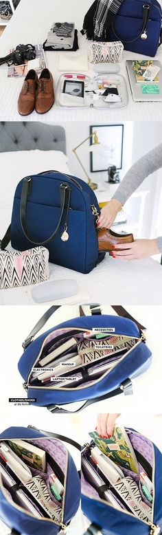 """The OG"" - lightweight travel bag, tech friendly laptop tote, and stylish gym bag. Designed by Lo & Sons - loandsons.com.  Photo by The Every Girl - theeverygirl.com - bag luggage, tan bags online, side bag purse *sponsored https://www.pinterest.com/bags_bag/ https://www.pinterest.com/explore/bag/ https://www.pinterest.com/bags_bag/radley-bags/ http://www.landsend.com/shop/mens-bags/-/N-kh7?brandCode=classic"