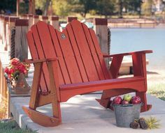 The Spring Lake Two Seater Rocker is perfect for a beach patio!