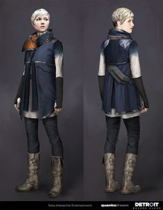 View an image titled 'Kara Art' in our Detroit: Become Human art gallery featuring official character designs, concept art, and promo pictures. Character Creation, Character Art, Character Design, Detroit Become Human Actors, Amanda, Post Apocalyptic Fashion, Becoming Human, Natsume Yuujinchou, Cyberpunk Fashion