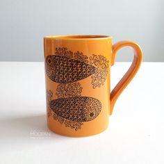 Vintage Portmeirion Pottery Pisces Mug John Cuffley Zodiac Design