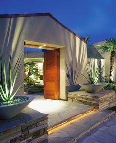 modern garden entrance