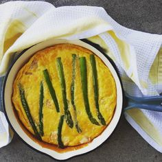 SALMON AND ASPARAGUS FRITTATA  A perfect breakfast, lunch or supper for all seasons.