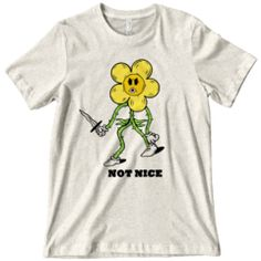Not Nice Shirt Clothes 2019, Ringer Tee, Gothic Outfits, Trendy Tops, Cool Shirts, Graphic Tees, Unisex, T Shirts For Women, Mens Tops