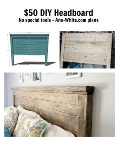 Ana White & Reclaimed Wood Headboard, Queen Size & DIY Projects Ana White & Reclaimed Wood Headboard, Queen Size & DIY-Projekte The post Ana White Headboard Designs, Headboards For Beds, Diy Furniture, Headboard Diy Easy, Bedroom Diy, Furniture Plans, Wood Diy, Diy Headboard, Reclaimed Wood Headboard