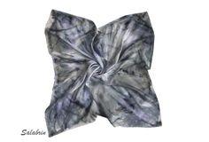 Seidentuch schwarz Schal Seide. http://de.dawanda.com/product/104768839-seidentuch-elegant   - ein Designerstück von Salabrin bei DaWanda