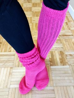 Over Knee Socks, Thigh High Socks, Ankle Socks, Thigh Highs, Slouch Socks, Sexy Socks, Pink Outfits, Tight Leggings, Black Leather Boots