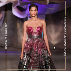 """Narayan Jewellers delightfully launched the new bridal collection in association with ace Designer Amit Aggarwal for """"Lumen"""" Couture 2019 at FDCI. Strapless Dress Formal, Formal Dresses, Bridal Collection, Fashion Show, Product Launch, Jewels, Couture, Design, Instagram"""