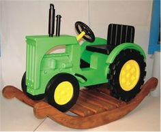 Your little farmer will be rocking  for hours on this Rocking Tractor as they imagine themselves working the fields.  So give your little farmer some excitement  by building them the Rocking Tractor with our Rocking Tractor Woodworking Plan.