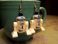 Lego R2-D2 Earrings